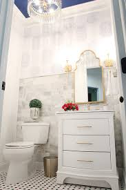Home Decor Deal Sites Powder Room Makeover Reveal Less Than Perfect Life Of Bliss