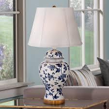 Jar Table L Vine Blue And White Temple Jar Table L