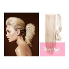 clip in human hair ponytail wrap hair extension 24