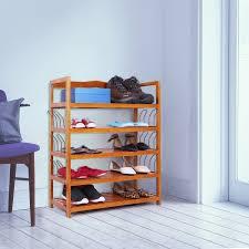5 tier shoe rack 6 pairs shoe shelf storage organizer entryway