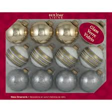 shop living 12 pack gold and silver shiny matte and