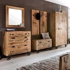 Esszimmerst Le Holz Massiv Flurgarderobenset Brave Im Loft Design Aus Holz Pharao24 De