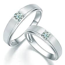 couples wedding rings images Charming his and hers anniversary gift rings 0 20 carat diamond on jpg