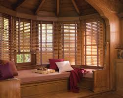 decorating interesting windows design with matchstick blinds