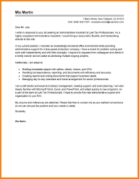 executive assistant cover letter sample cover letter for administrative assistant