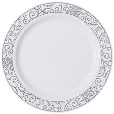 venetian white silver plastic dinner plates smarty had a