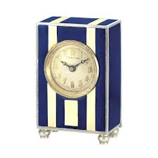 silver desk clock art sterling silver and enamel miniature desk clock the rectangular case applied with silver desk clock
