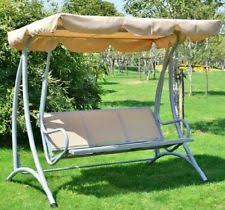 porch swing with canopy cover patio outdoor 3 person seat bench