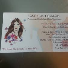 eyebrow waxing and nail salons near me rosy beauty salon hair salons 2324 n 72nd st west omaha omaha