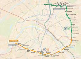 Map Paris France by Map Of Paris Tram Stations U0026 Lines
