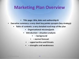 market planning implementation and control