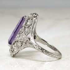 art deco 1930 u0027s vintage 3 43ct t w amethyst u0026 diamond hand