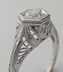 purchase charming antique art deco style filigree engagement ring