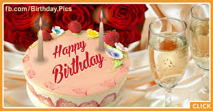 roses champagne cake happy birthday card happy birthday videos