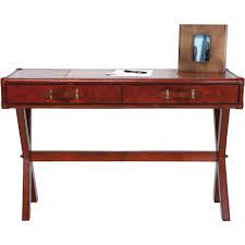 Schreibtisch 100 X 50 Schreibtisch Konsolisch Kolonial Lodge Lederbezogen 120 50 U2013 Möbel