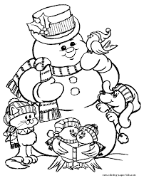 frosty snowman coloring christmas coloring pages