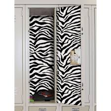 Magnetic Locker Wallpaper by Locker Stickers Zebra Set Of 2 In Locker Decor