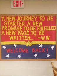 my welcome back wonder woman bulletin board ra u0026 youth ministry
