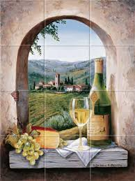 kitchen mural backsplash italian backsplash murals murals kitchen backsplash tuscany