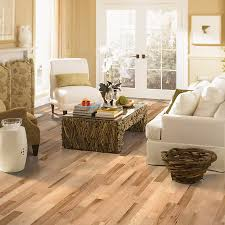 shop allen roth 2 25 in w prefinished hickory hardwood flooring