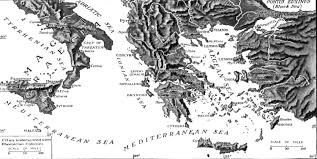 Map Of Ancient Greece by Ionian Sea