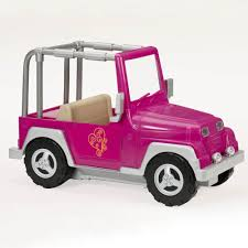 pink toy jeep our generation 4 x 4 jeep og 4 x 4 jeep 18 inch dolls jeep