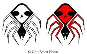 spiders tattoo set of spiders for tribal tattoo design vectors