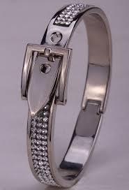 crystal buckle bracelet images Rose gold quot belt buckle quot bracelet w crystals blown biker jpg