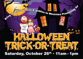 halloween trick or treating westview promenade shopping in