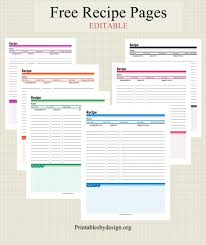 recipe pages template expin franklinfire co