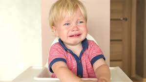 High Sitting Chair Little Baby Boy Crying And Sitting In His High Chair Stock Footage