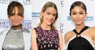 halle berry jaime king u0026 zendaya go glam for the butterfly ball