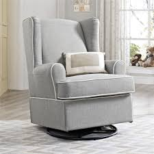 Swivel And Rocking Chairs Dorel Living Eddie Bauer Swivel Glider Gray