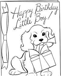 birthdays happy birthday boy coloring happy birthday