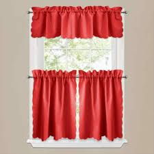 Kitchen Tier Curtains by Red Checked Curtains Kitchen Tier Valance Walmart For Sheer Sheer