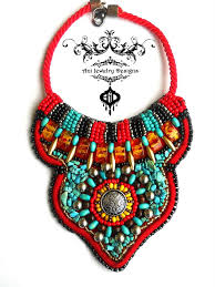 bib necklace designs images African bib bead embroidery necklace by anidandelion jpg