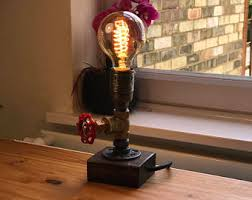 steampunk lamp etsy