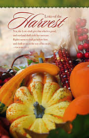 lord of the harvest thanksgiving bulletin lifeway christian