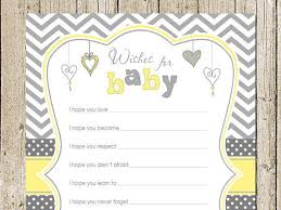 wishes for baby cards yellow and gray wishes for baby card with hearts printable baby
