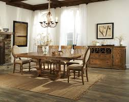 intercon rhone trestle dining table with leaf wayside furniture
