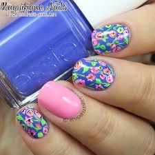magically polished nail art blog bright florals nails
