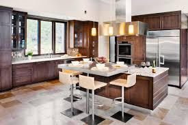 island with seating massive kitchen with two fullwidth islands