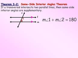 Same Side Interior Angles Postulate Objective To Indentify Angles Formed By Two Lines And A