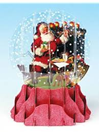 amazon com christmas greeting card pop up 3 d snow globe holiday