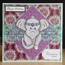 little lucy u0027s handmade cards indian elephant birthday card