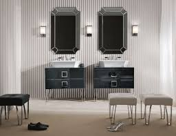 High End Bathroom Vanities by Daphne D2 High End Italian Bathroom Vanity In Black Mirrored Glass