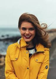 Yellow Raincoat Girl Meme - kjp beach ocean wall yellow rain jacket storm stormy stripes