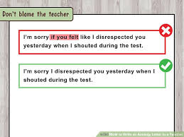 how to write an apology letter to a teacher with pictures