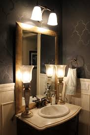 wallpaper for bathrooms small bathroom remodel ideas with small bathroom with white wainscoting and black seville wallpaper ideas for