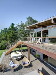 hurricane proof wood and steel waterfront home on long island